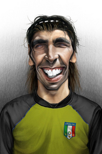 Джанлуиджи Буффон, Gianluigi Buffon, карикатура